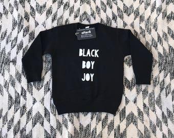 Black Boy Crew Sweatshirt