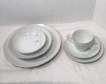 Vintage Individual pieces of Rose China N Japan 2221 Symphony Pattern Cups Fruit Bowls Soup Bowls Bread and Butter Plates Dinner Plates  535