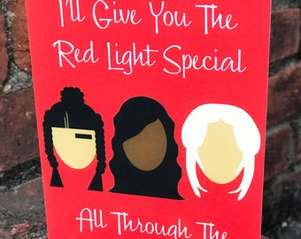 Red Light Special- Greeting Card