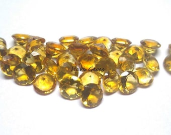 10 pieces 2mm Citrine faceted round gemstone AAA+ quality natural citrine round faceted loose gemstone