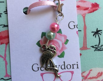 Flamingo Charm , for your Midori Travellers Notebook or Fauxdori , beautiful charm to add a personal touch to your planner