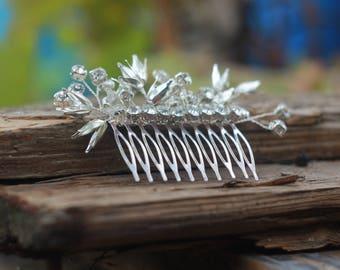 rhinestone comb silver hair comb wedding hair comb bridal headpiece hair comb bridal comb hair accessories bridal hair piece wedding golden