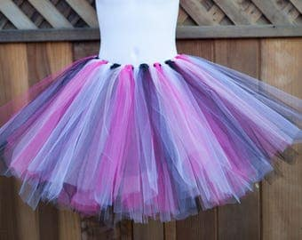 Black, Light Pink, Dark Pink and White Tutu - Other Colors Available