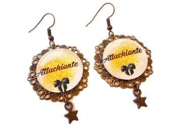 Humorous messages - Attachiante earrings