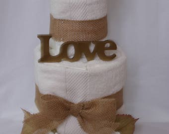 Custom Wedding Gifts (towel cakes)