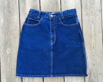 Vintage Mini Skirt 5 Pocket Calvin Klein Blue Jean Size 7