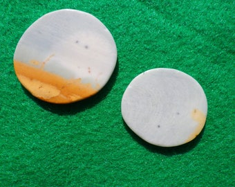 polychrome Jasper set of two (one large, one small) golf ball markers