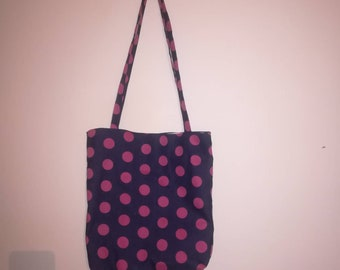 Lined denim tote bags with pockets