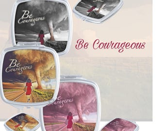 "JW.org gift,  ""be Courageous "" 2018 Regional Convention Theme compact mirror. JW gift"