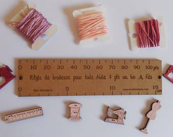 Embroiderer wooden ruler