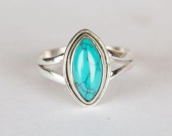 Turquoise Ring, Turquoise Sterling Silver Ring, Turquoise, Turquoise Jewelry, Boho Ring, December Birthstone Ring, Everyday Ring