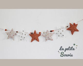 Star Garland 6 90 cm home decor fabric baby and child