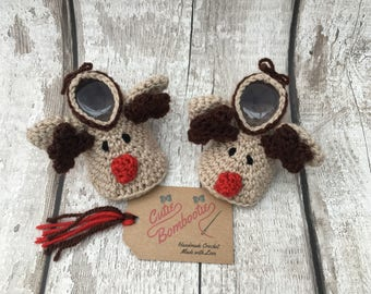 Crochet Christmas Booties