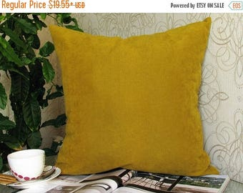 20%off Mustard Pillow, Mustard Velvet Pillow, Mustard Velvet Pillow Cover, Mustard Velvet Decorative Pillow,  Mustard Couch Pillow, Mustard