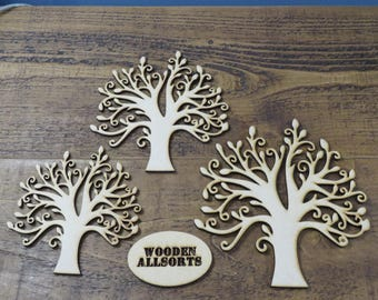 150mm MDF Family Tree 3mm wood. 3 sizes available