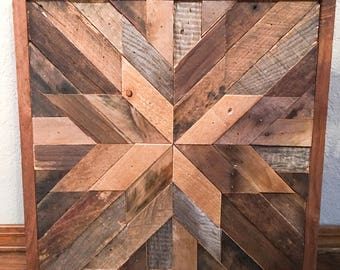 Barn Wood Quilt - Custom Wood Art - Reclaimed Wood Decor - Rustic Home Decor - Wood Wall Art - Barnwood mosaic
