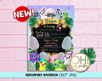 Hatchimals Birthday Party Invitation, Hatchimals Birthday Invitation, Hatchimal Party Supplies, Hatchimal Invitation,  Hatchimals party