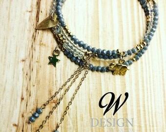 Crystal memory wire bracelets (set2)