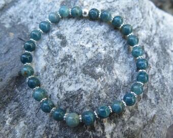 Inspiring Blue Apatite Bracelet and 925 Silver