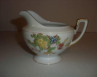 Vintage Creamer.  Floral Design.  Made in Japan.