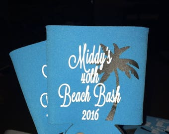 Personalized Can Cooler, Custom can cooler, Weddings, Bachelor, Bachelorette, Birthday Parties, Vacation, Baby Announcements and more