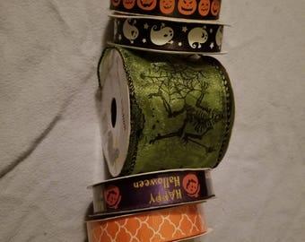 Halloween ribbon lot. 6 spools