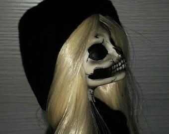 Death-Skelita Monster High doll repaint OOAK