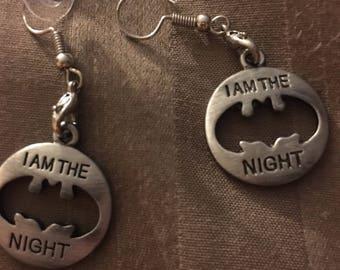 Batman Earrings I am the Night