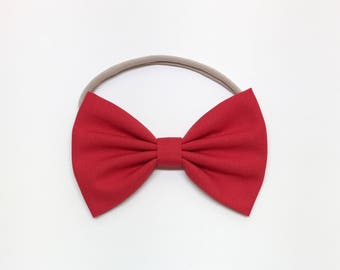 Little Girl Bows - Red - Girl Bows - Clips or headbands