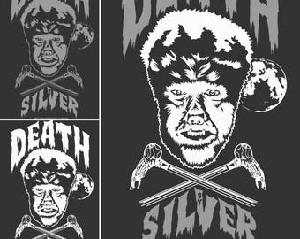 Death By Silver Screen Printed T-Shirt