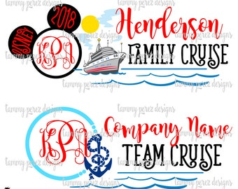 Family Team Disney Cruise SVG DXF Files - Digital Files for Craft Cutting