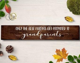 Pregnancy Reveal To Grandparents, Framed Wood Sign, Grandparents Sign, Grandmother Gift, Grandfather Gift, Grandparents to be, wood sign