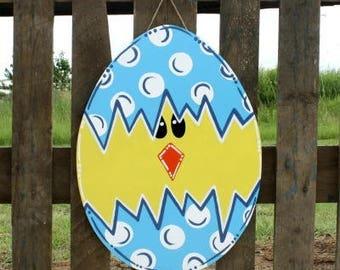 Easter Door Decor-Cracked Egg, easter door decor, easter door hanger, easter decoration, Easter egg hanger