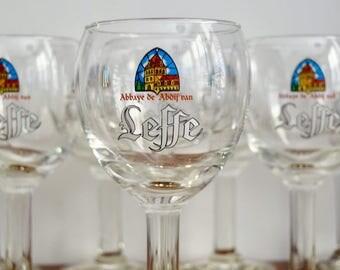 Leffe Belgian Beer Glasses Goblets. Vintage Beer glasses. Barware