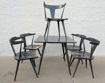 Mid Century Modern Paul McCobb Lacquered Table and 5 Chairs
