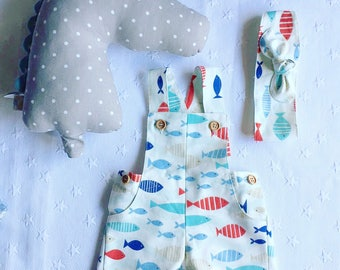 baby bloomers, baby jumpers, bloomers, kids fashion, baby fashion, baby shorts, shorts, jardineiras,kids shorts, tapa fraldas, fofo, fishes