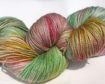 Sw merino yarn dyed ' sparkle in the summer '