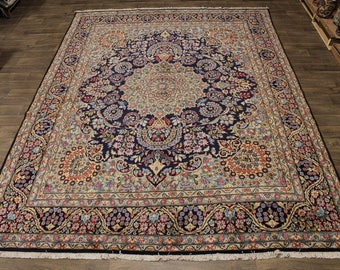 Overwhelming Hand Knotted Floral Kerman Persian Rug Oriental Area Carpet 10X13
