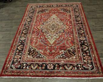Stunning Handmade Floral Lilian Hamedan Persian Rug Oriental Area Carpet 8X11