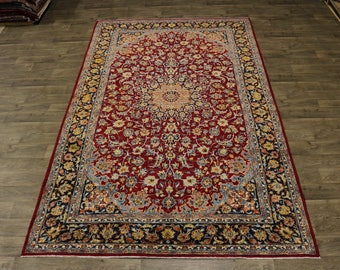 8X12 Nice Traditional Najafabad Isfahan Persian Rug Oriental Area Carpet 7'7X12