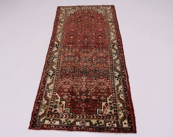 Tribal Handmade Runner Hossainabad Hamedan Persian Rug Oriental Area Carpet 4X10