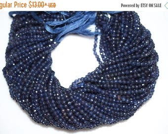 50% OFF Iolite Faceted Rondelle Beads 13 Inch Strand ,Iolite Beads, Iolite Roundel Beads , 4.50 mm - MC348