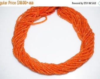 50% OFF Natural Carnelian Micro Faceted Rondelle Beads - Carnelian Faceted Rondelle Beads , 2.75-3 mm - MC309