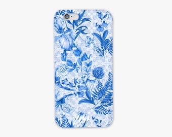 Santorini Blue Tile Phone Case