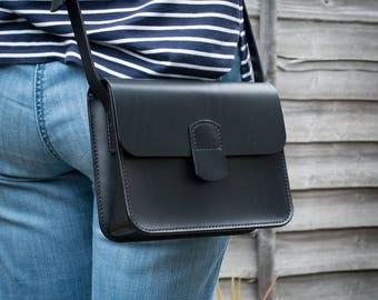 Black Leather Bag, Small Bag, Shoulder Bag, Crossbody Bag