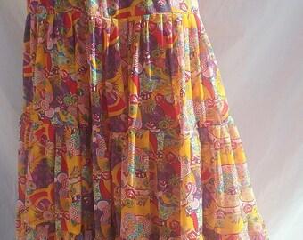 Skirt long TANGERINE