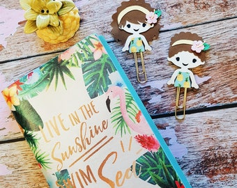 Aloha girls summer paperclip bookmarm