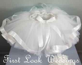 Flower Girl Tutu, White Tutu Skirt, Tutu Skirt, Tutu, Wedding Tutus, Baby Tutu, Baby Shower, Birthday Tutu, Cake Smash Skirt, Photo Shoot