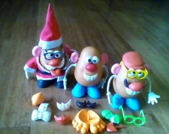 Mr Potato Head. Lot of 3 dolls and lots of pieces