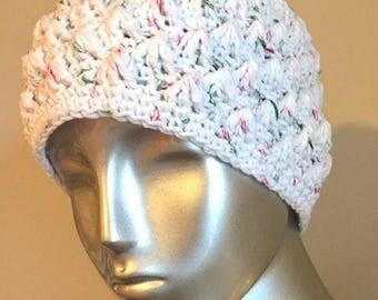 "Crochet ""Candy Cane"" Peak Hat (Medium)"